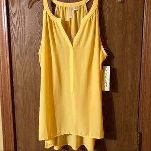 Tops - Women's Yellow Sleeveless Top, NWT, L